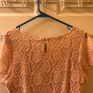Maurices shirt with lace overlay- size L